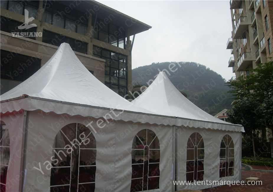 Custom UV Resistant High Peak Tents 5x5 Canopy Tent , Wind 0.3kN/M2