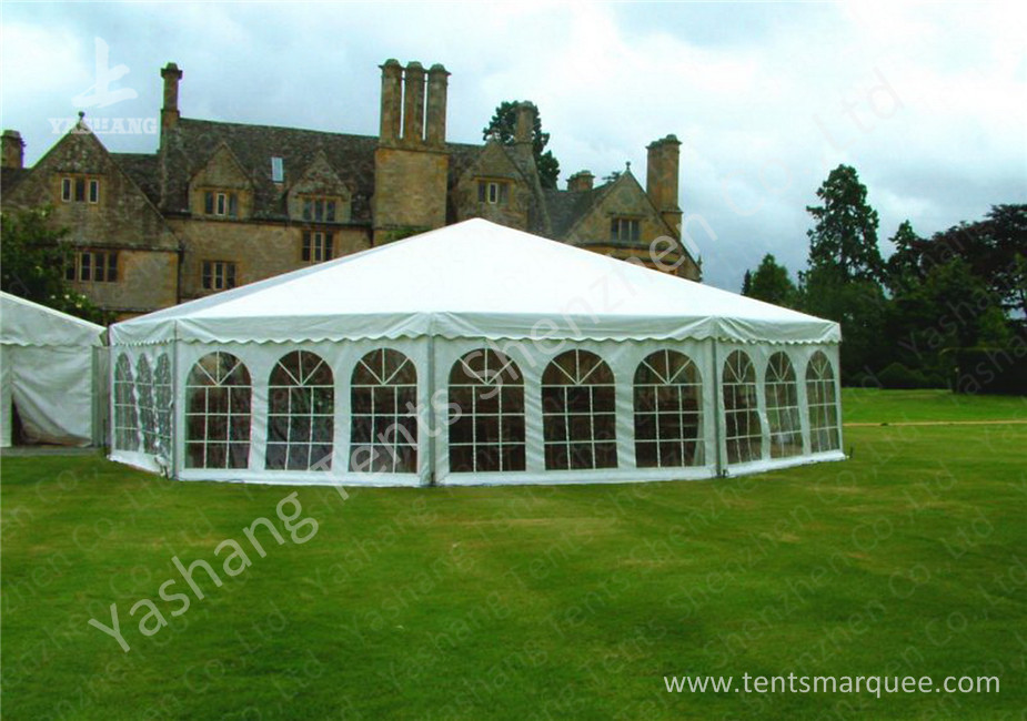 Aluminum Framed Customized Outdoor Canopy Gazebo Party Tent White PVC Top
