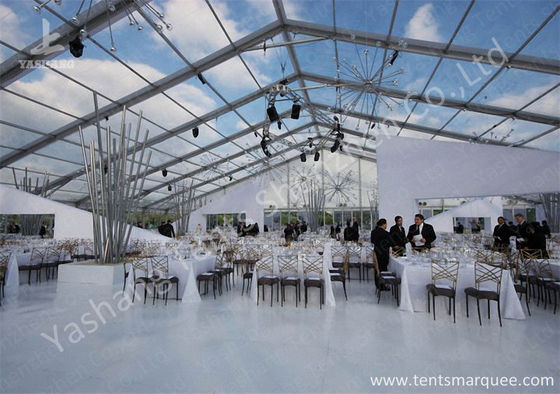 Porcellana Outdoor Transparent PVC Cover Luxury Wedding Tents Wind Resistant fabbrica