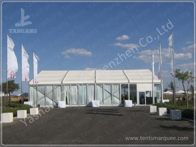 Commercial Enclosed Gazebo Tent Marquee With 850gsm White Fabric Top Cover